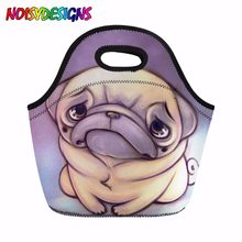 Big Lunch Bags for Women Cute French Bulldog School Insulated Lunch bag for Girls Children Tote Food Bag Fashion Dropshipping(China)