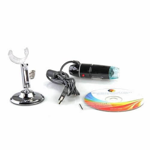 WSFS Hot 5MP 50X-500X Magnification 8-LED USB Digital Microscope Endoscope with Stand for Education Industrial Inspection