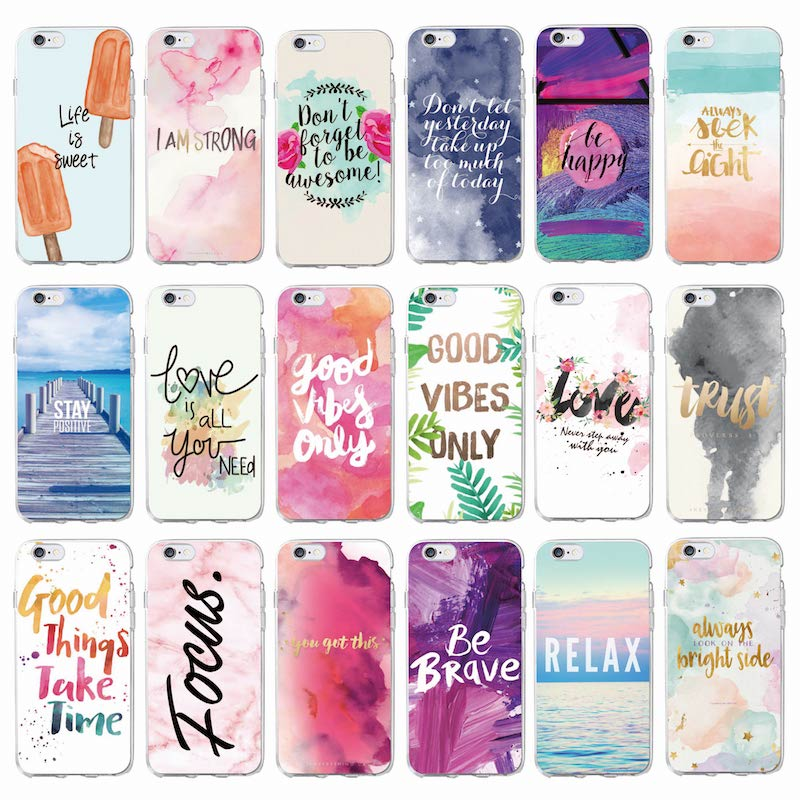 Positive Good Vibe Only Love Happy Trust Quote Soft Phone Case Fundas Coque Cover For iPhone