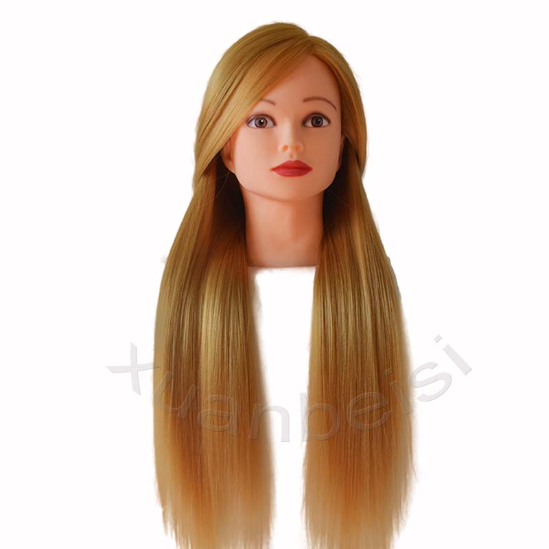 24inch Long Blonde Hair Mannequin Head For Hairdressing Training Heads Dummy Head Mannequin Manikin Head for Sale Nice Maniqui