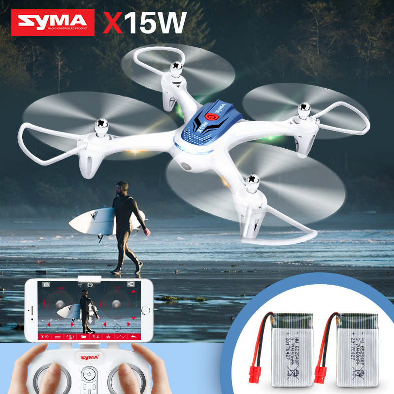 2 Batteries SYMA Officail X15W Drone with Camera HD 0.3MP FPV Real time transmit RC Helicopter Dron Quadcopter Quadrocopter дефлектор капота skyline chevrolet cruze 2009 sd hb 2011
