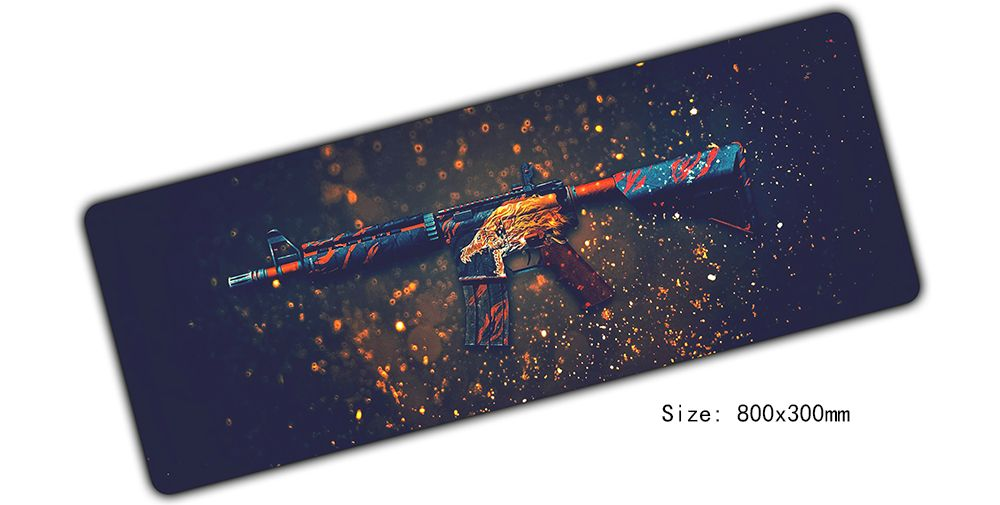 Large cs go mouse pad 800x300x2mm mouse mat laptop for Cs go mouse