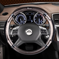 Fibra de carbono Estilo Do Carro Cobertura de Volante Para Toyota Corolla Avensis Yaris Rav4 Hilux Prius Auris 2014 2015 Auto acessórios