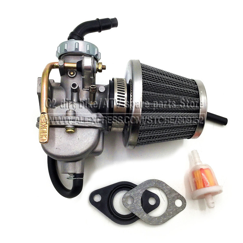 PZ20 20mm Motorcycle <font><b>Carburetor</b></font> Carb For 50cc <font><b>70cc</b></font> 90cc 110cc 125cc 135 For Kazuma ATV Quad Go kart SUNL image