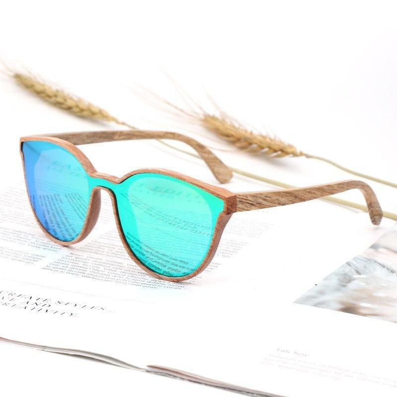 Design blue Fashion Sonnenbrille Red pink Farbe Siamese 2018 purple tea Neue Lens Lens Holz Lens Runde Green Objektiv black Lens Lens Uv400 Lens IwZxx5qt