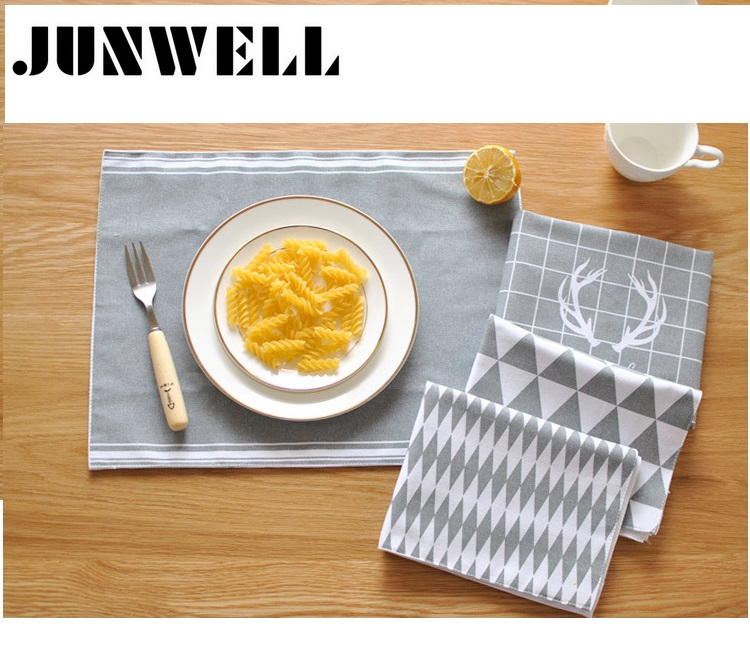 ABCD Assorted 4pcs lot 30X40cm 100 Cotton fabric placemat European Style print Dishtowel Kitchen Towel Cleaning