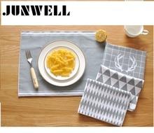 ABCD Assorted 4 teile/los 30X40 cm 100% baumwollgewebe tischset Europäischer Geschirrtuch Küche Reinigungstuch Geschirrtuch