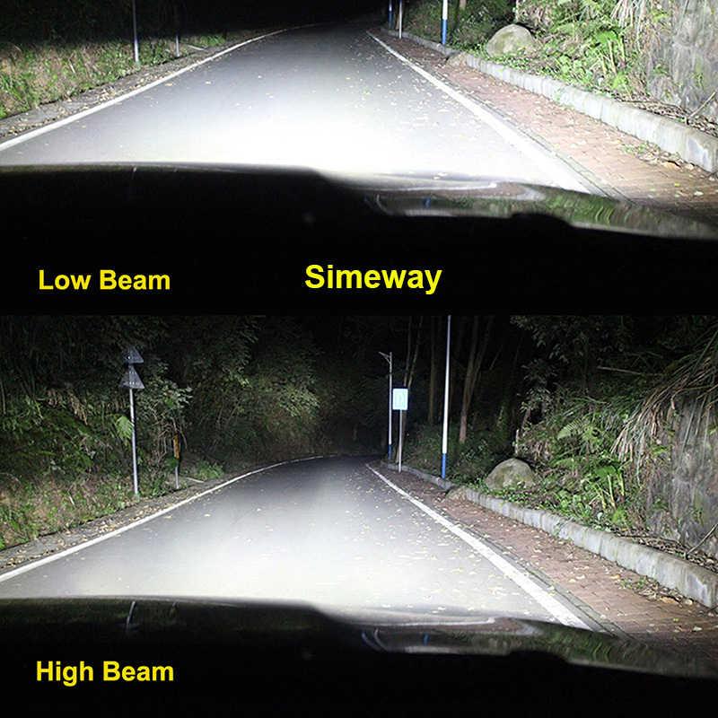2PCS H4 hi/lo Led H8 H9 H11 HB3 hb4 Fog Lamp Car Headlight Bulbs xhp70 chip led H1 100W H7 D1S D2S 9004 9007 Auto bulb 12V 6000K