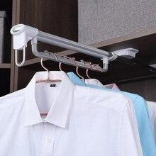 35/45 cm (14/18 inç) alüminyum alaşım Üst monte çekin Askı Asılı ray Ceket Ceket Kumaş Robe Dolap Dolap