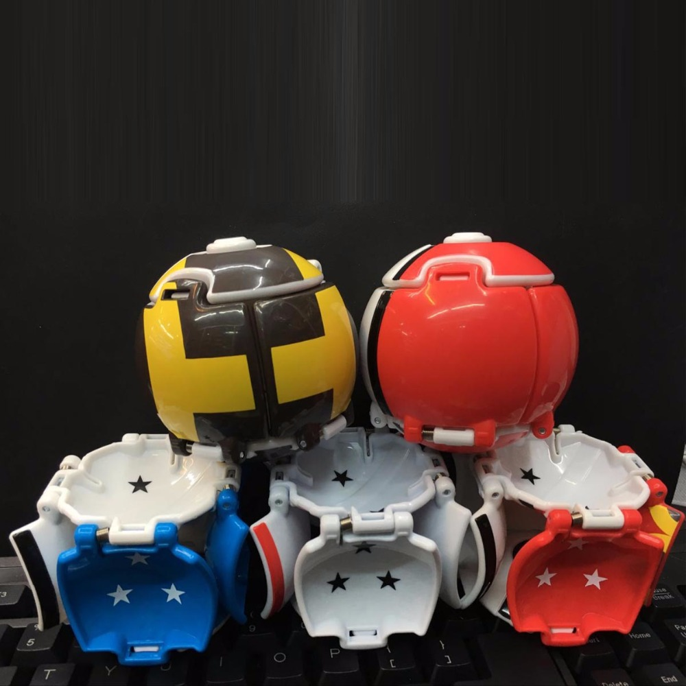 цены Pikachu Ball 5pcs/set Ball Anime Action Figures Toys Super Master 5 Colour Touch can be flipped PVC Figures Model Toys 8CM