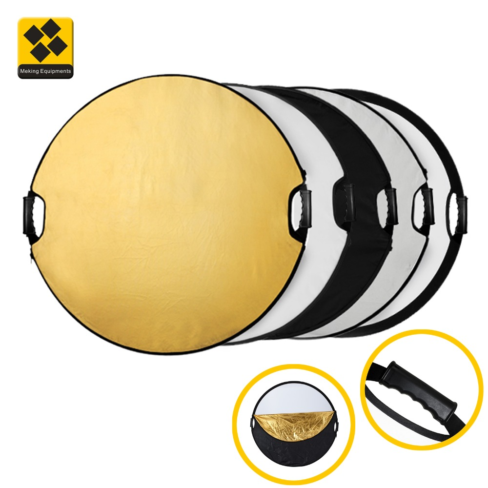 Photographic reflector 43-Inch 110CM Portable Foldable Reflector 5 In 1 Translucent Round Multi Disc Light Reflector With Black Carry Bag Ideal For Photography Activities Portable photography reflecto