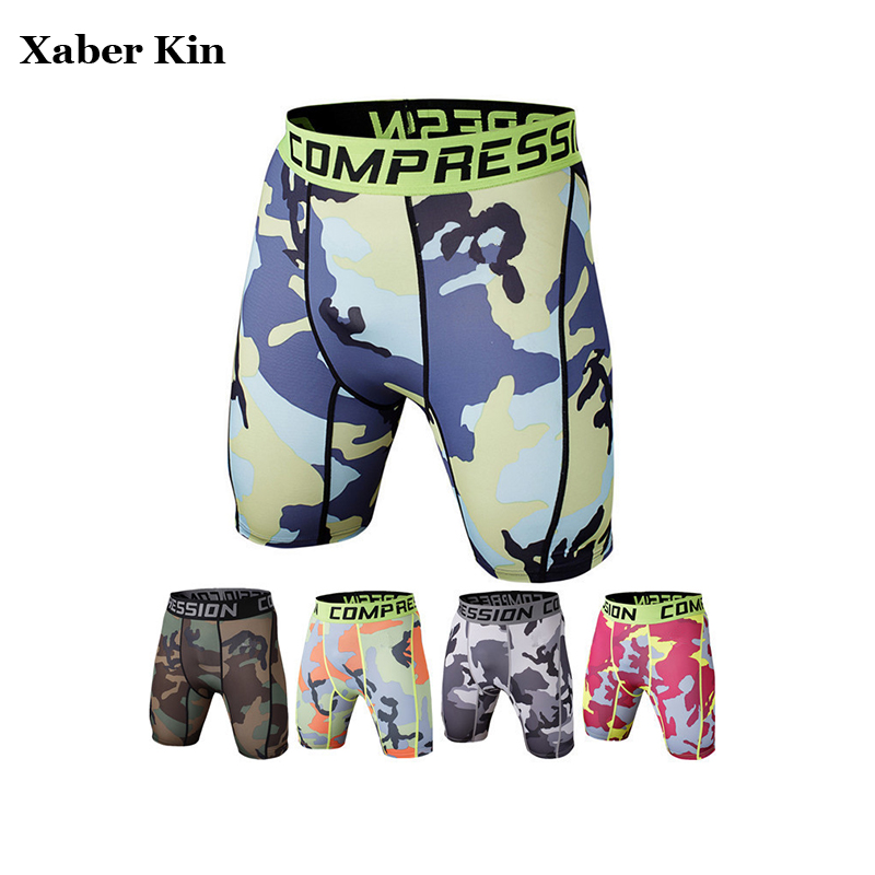 New Men's sweat absorption Sports Shorts Camo Quick Dry Men's Fitness Running Shorts Gym Clothes Slim Fitness CC939(China)