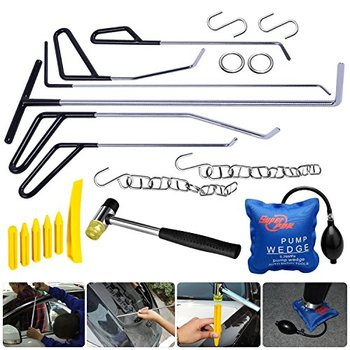 PDR Steel Wedge Dent Set Air Tail Push Tools PDR Repair Puller Spring Paintless Pcs Kits Removal Rods 20 Tapdown