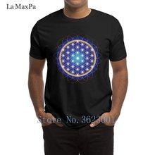 Criatura Da Novidade T-Shirt Homem Flor Da Vida Dos Homens T Camisa À Moda 2018  Camiseta Da Nova Camiseta de Algodão Para Os Hom. 8181e196d3ba8