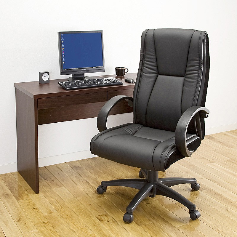High Back Leather Office Desk Chair Office Furniture Computer Gaming Chair Reclining Adjustable Executive Chair PU Leather Black admin manage