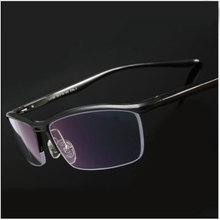 Toptic نظارات إطار نظارات بصرية للرجال نظارات طبية شبه بدون إطار نظارات نصف حافة العين النظارات
