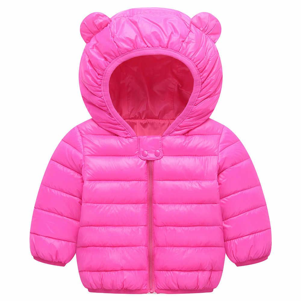 2018 зимнее пальто с капюшоном для маленьких мальчиков и девочек, детская верхняя одежда, детская куртка, наряды, зимняя одежда для маленьких девочек, куртки для девочек