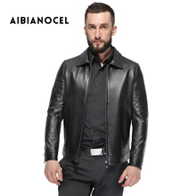 AIBIANOCEL Winter New 2017 Leather Jacket Men Sheepskin Coat Full Pelt Leather Popular Jacket Genuine Leather Coat Men 8705