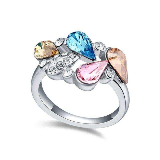 Elements Silver Women Crystal Ring 72w9lq