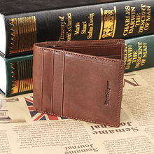 Ruil Luxury retro casual 100% Ruil authentic genuine leather leather men's short wallet coin purse Card ID Holders(China)