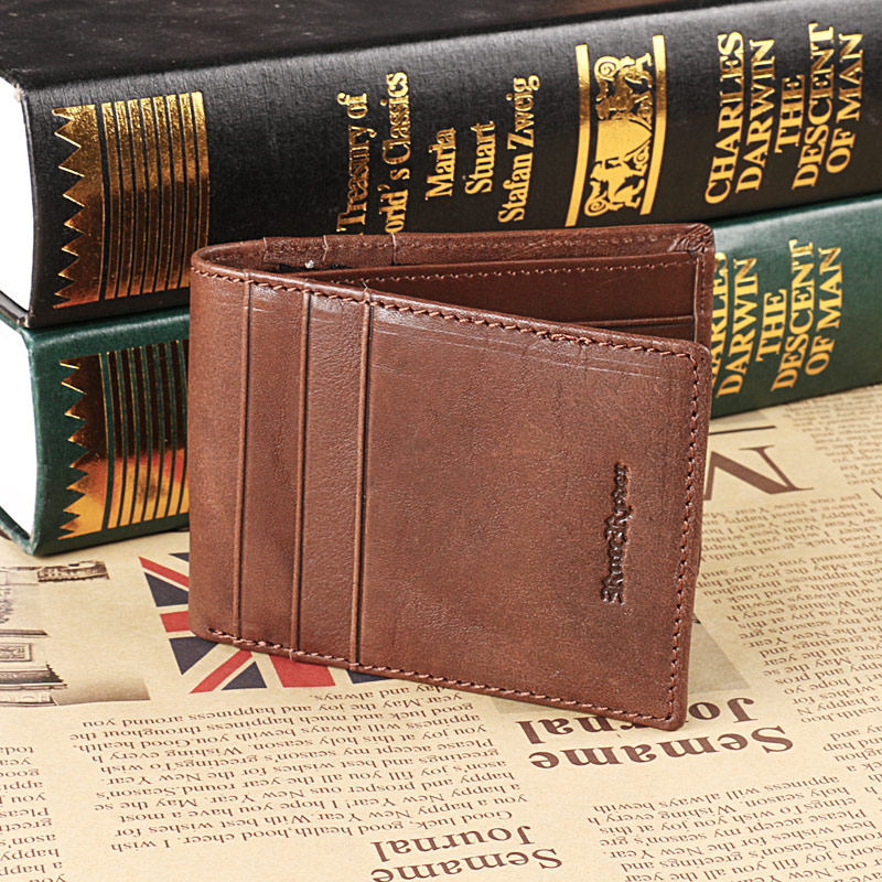 Ruil Luxury retro casual 100% Ruil authentic genuine leather leather men's short wallet coin purse Card ID Holders