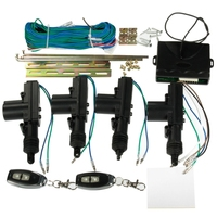 2/4 Door Car Remote Control Central Lock Keyless Entry System +2 Remote Key