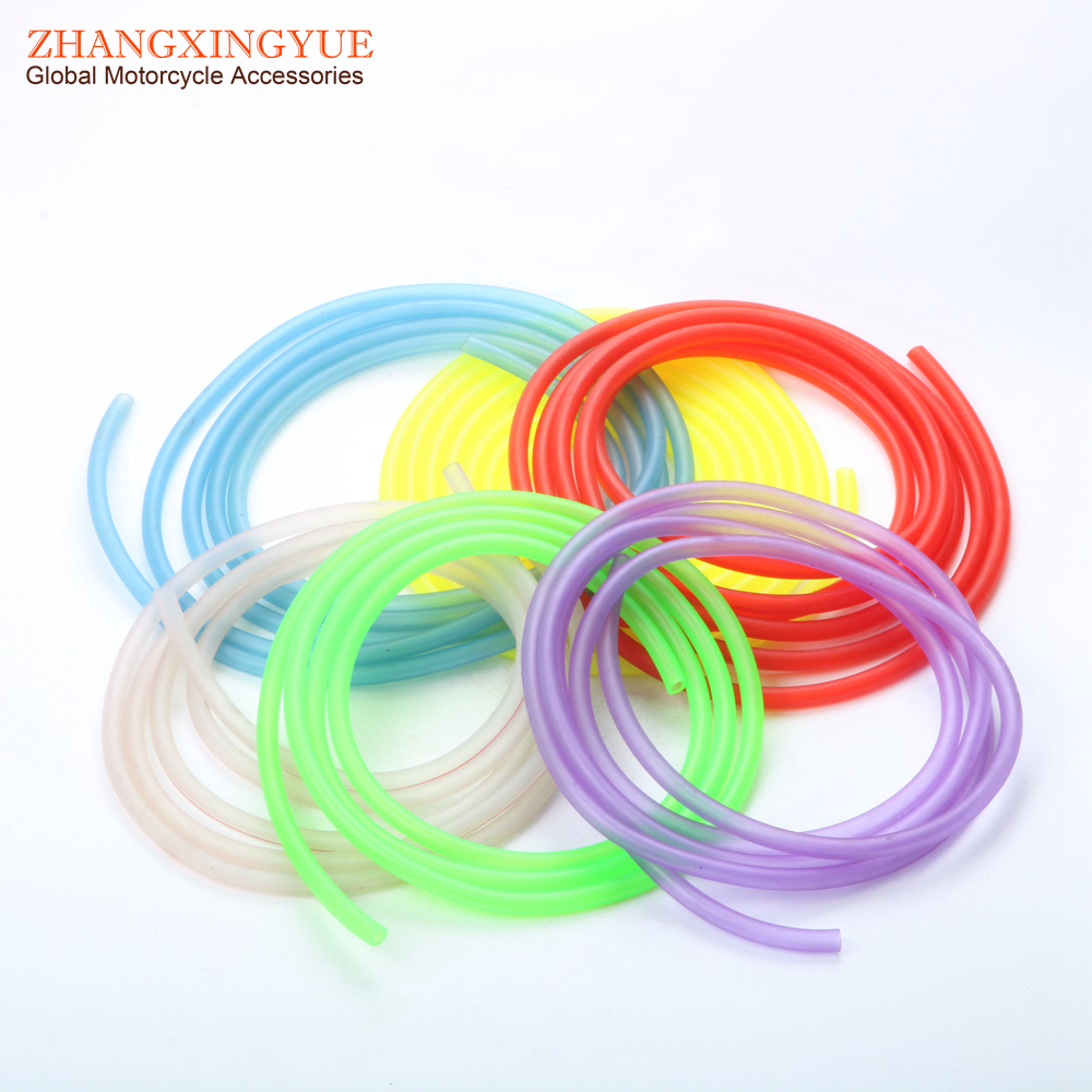 2m x 6color Carburetor Carb Line Hose tube Tubing 5mm x 8mm (white green yellow red purple blue) for Scooter ATV Kart Motocross