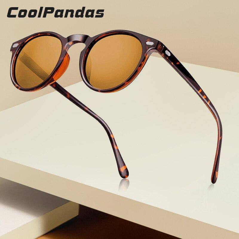2019 TR90 léger tortue marron unisexe lunettes de soleil polarisées hommes femmes Vintage rétro petit rond gafas oculos de sol UV400