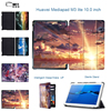 MTT Anime Sky Case For Media Pad M3 Lite 10 Slim PU Leather Smart Cover Case