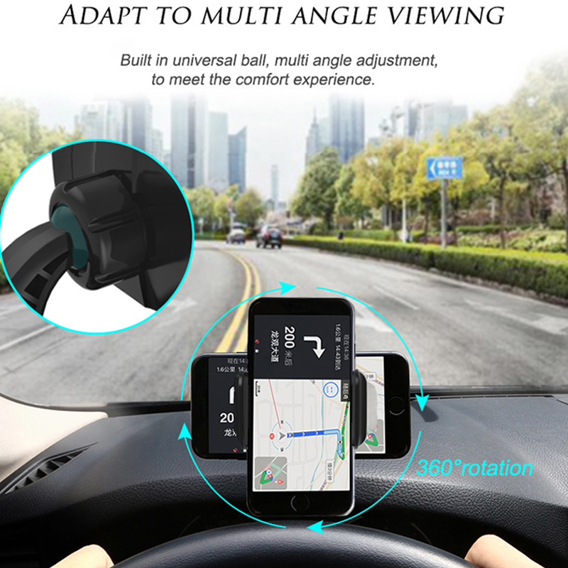 Image 2 - Dashboard Car Phone Holder GPS Navigation Support Smartphone Mount Stand Clip On Dashboard Mobile Phones Holder Auto Accessories-in Universal Car Bracket from Automobiles & Motorcycles