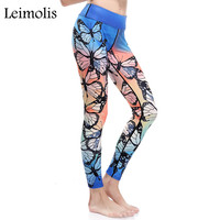 3D Print Butterfly Parrot Dragonfly Bird Harajuku Adventure Time Workout Push Up Spandex Plus Size Fitness