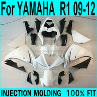 White fairings For YAMAHA R1 09 12 Fairings ( black ) 2009 Injection mold Fairing kit ll53