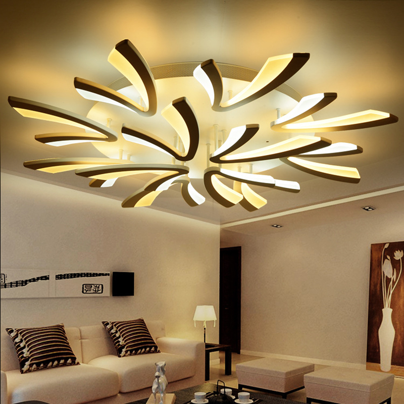 modern led ceiling lights white acrylic plafonnier Luminaria Abajur lamp Living room ceiling lamp bedroom lighting white black ceiling lights led lustre de plafond living bedroom ac90 265v modern luminaire plafonnier ceiling lamp home decors