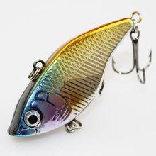 1Pcs/Box 2016 New Japan VIB Fishing Lure Wobblers Isca Artificial Pesca ABS Plastic 3D eyes 6# BKK Hook Tackle 50mm 14.5g