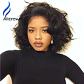 Short Silky Straigt Wavy Silk Base Wigs With Baby Hair Glueless Silk Top Full Lace Wig Bob Short Human Hair Wigs For Black Women