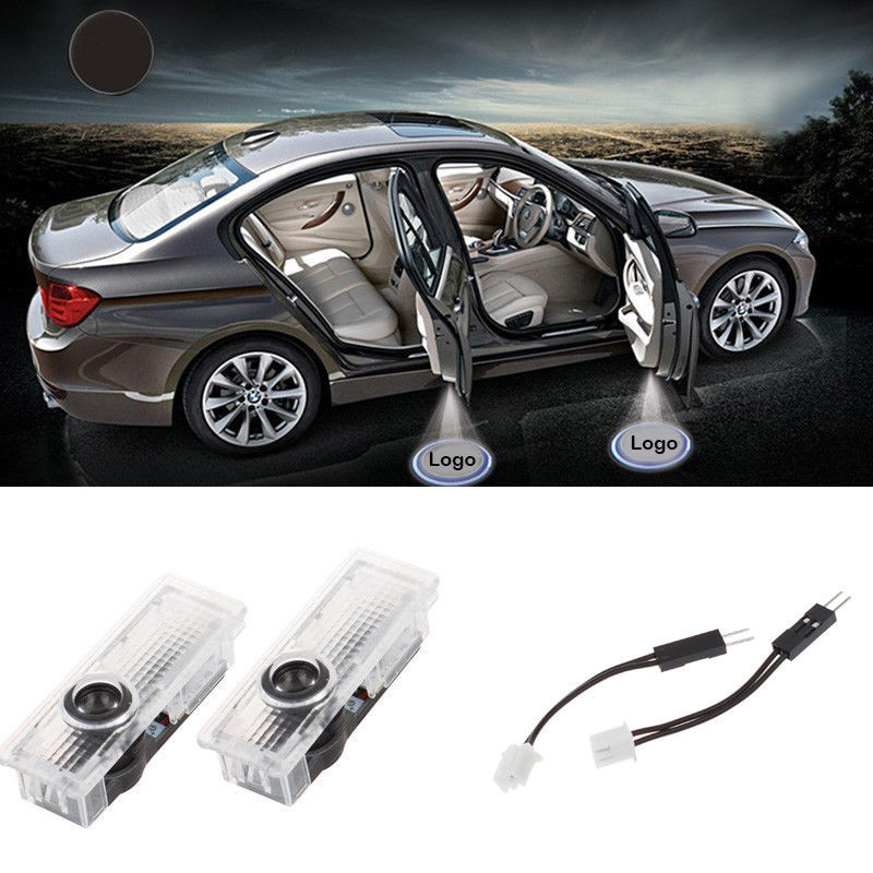 2x Car Door LED Courtesy Welcome laser Projector Logo Ghost Shadow Light For BMW AUDI Toyota Range Rover Volkswagen for skoda octavia led 3w welcome car door logo lights projector laser ghost 3d shadow accessories original door light replace
