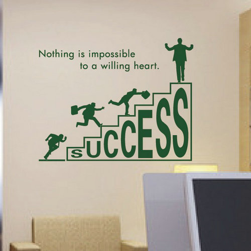 1 pc wall sticker company corporate office culture personalized road to success inspirational 58x46cm in craft paper from home garden on aliexpress com
