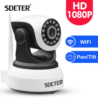 SDETER 1080P Full HD Wireless Security IP Camera Wifi CCTV Home Surveillance IR Night Vision Audio Recording Indoor Camera 2MP