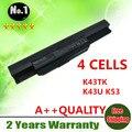 4 células de la batería del ordenador portátil A41-K53 para Asus A43 A53 K43 K53 X43 A43B A53B K43B K53B X43B A54LY A83 A83B A83B A83BR A83BY A83E A83S