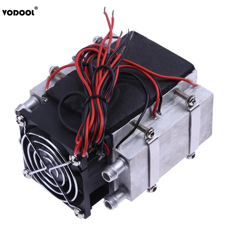 240W 12V Semiconductor DIY Refrigeration Water Cooling Cooled Device Air Conditioner Movement for Refrigeration and Cooling Fan ks214 12v 240w semiconductor electronic peltier chip water cooling refrigeration small pet air conditioner aluminum radiator