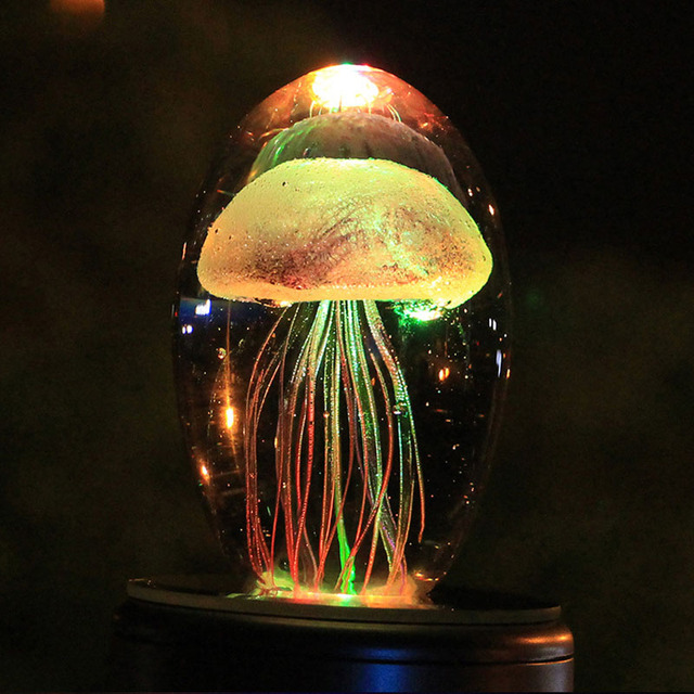 Jelly Fish Crystal Lamp glow