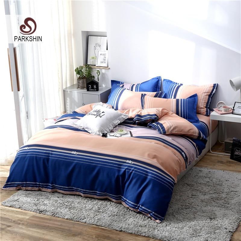 ParkShin Blue 3D Bedspread Duvet Cover Set Bed Linen Set Deco Home Bedding Set Bedspread Double Queen King Single Bedclothes