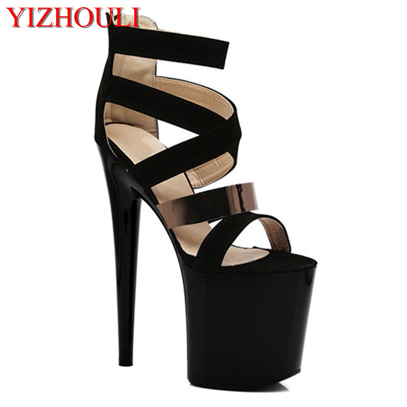 summer sandals ultra high with waterproof 20 cm thick black bottom club for women s shoes