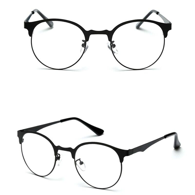 Fashion Women Men Brand Designer Vintage Glasses Half Frame Optical Glasses Unisex Eyeglasses Frames High Quality Grau