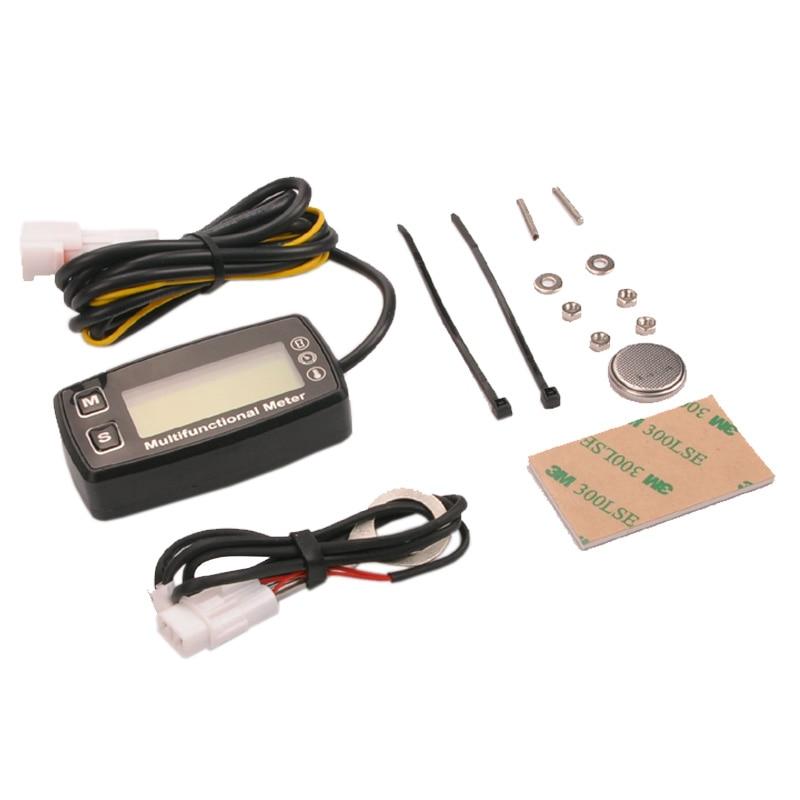 Rəqəmsal LCD RL-HM035T takometr saat sayğac termometr qaz üçün - Motosiklet aksesuarları və ehtiyat hissələri - Fotoqrafiya 2