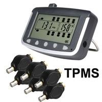 Tire Pressure Monitoring System Car TPMS With 6 Pcs External Sensors Truck Trailer RV Bus Miniature
