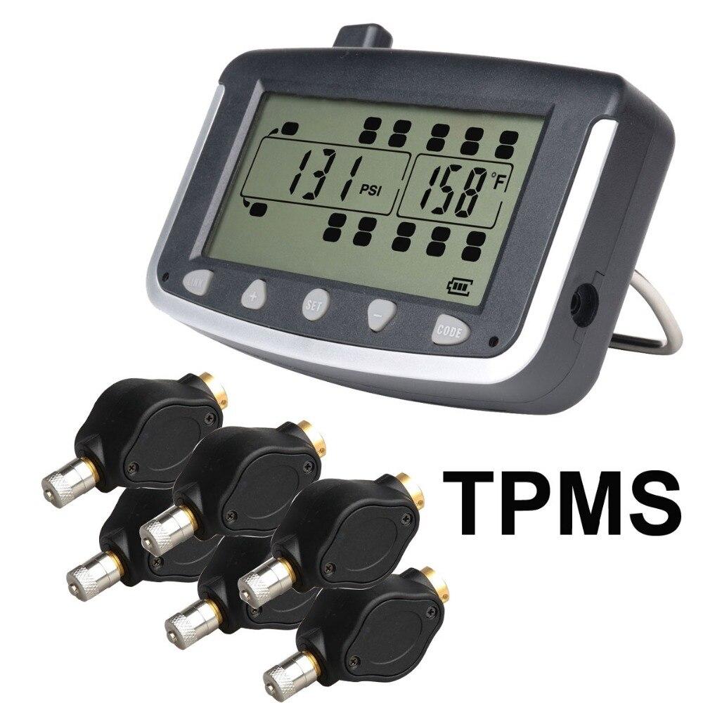 Sistema de Monitoreo de presión de neumáticos TPMS coche con 6 unids externa Sensores camión Remolques, RV, autobús, miniatura coche de pasajeros