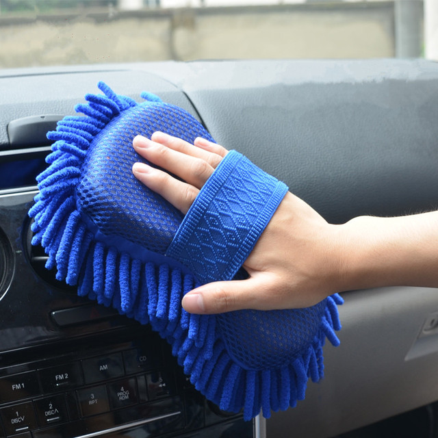 Car Cleaning Brush Cleaner Tools Microfiber Super Clean Car Windows Cleaning Sponge Product Cloth Towel Wash Gloves  Auto Washer 1