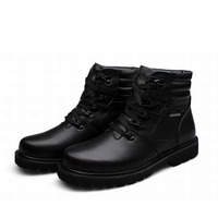 men ankle winter snow boots man platform genuine leather lace up high top military martin mens shoes zapatillas zapatos hombre