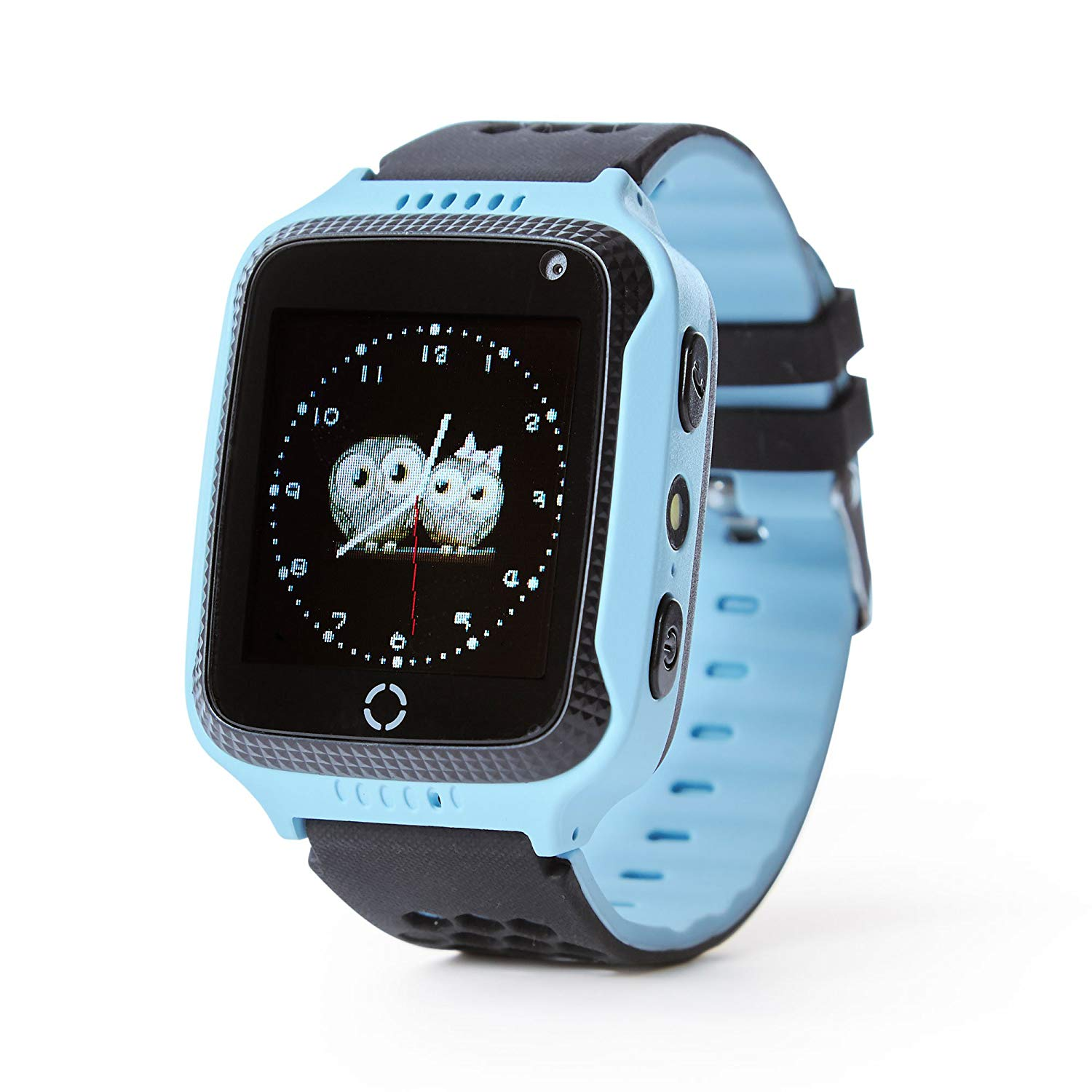 Smart Watch For Kids Boys Girls Fitness Baby Phone Touch Screen With GPS Tracking Tracker Children SOS Call Camera Blue Pink lemado v12 gps sport smart watch for children 1 22 touch screen support 32g tf card vibration sos kids safe tracker with camera